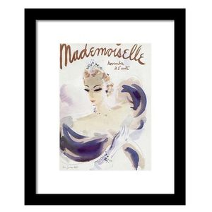 Mademoiselle Cover Print in Black Frame